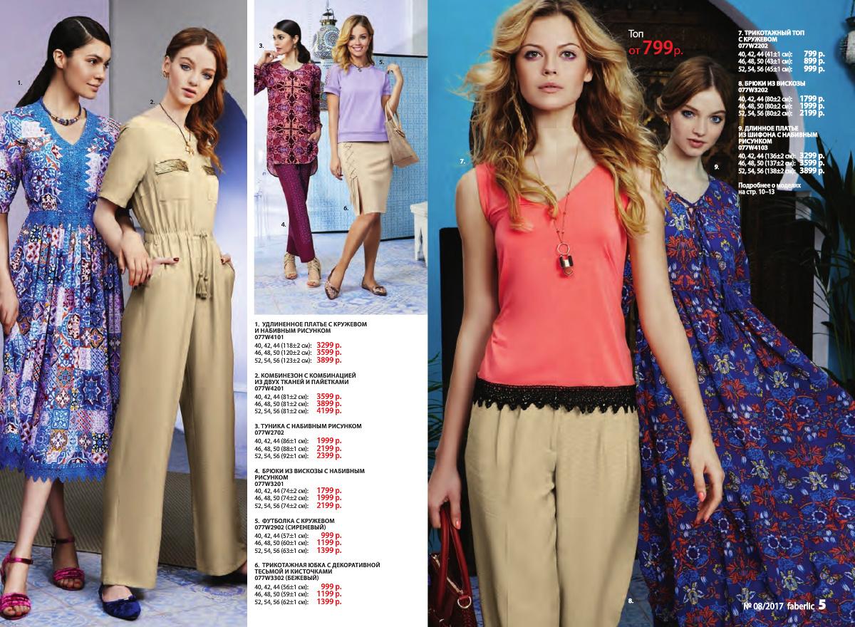 Фаберлик женская одежда каталог